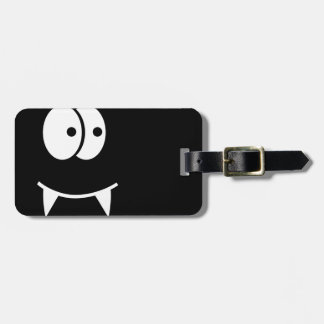 Cute vampire face luggage tag