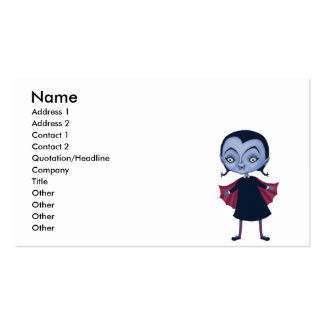cute vampire school girl Double-Sided standard business cards (Pack of 100)