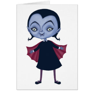 cute vampire school girl card