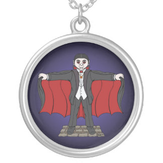 Cute Vampire Silver Plated Necklace
