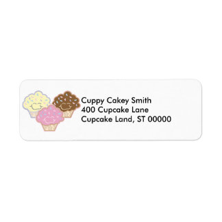 cute vanilla strawberry chocolate cupcakes label