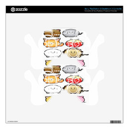 Cute vector Animals design Skins For PS3 Controllers