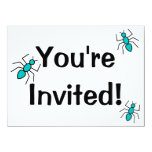 Cute Vector Ant 5.5x7.5 Paper Invitation Card