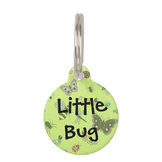 Cute Vector Bugs & Butterflies (Grass Green Back) Pet Tag