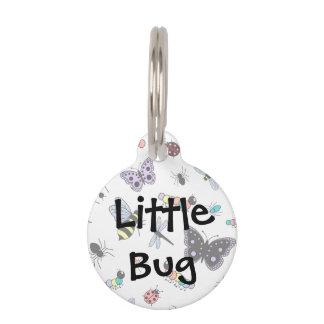 Cute Vector Bugs & Butterflies Pet Tag