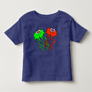 Cute Vector Cartoon Jellyfish Toddler T-shirt