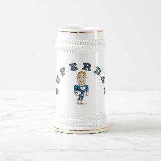 Cute Vector Cartoon Super Dad Beer Stein