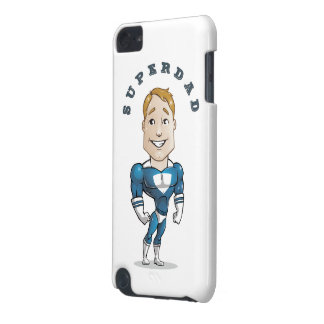 Cute Vector Cartoon Super Dad iPod Touch (5th Generation) Cases