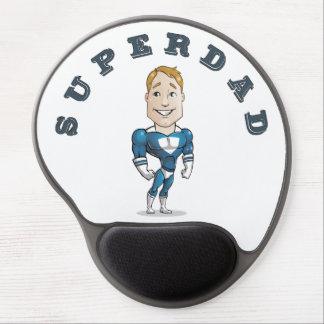Cute Vector Cartoon Super Dad Gel Mouse Pad