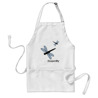 Cute Vector Dragonfly Adult Apron