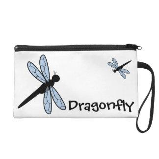Cute Vector Dragonfly Wristlet