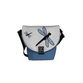Cute Vector Dragonfly Courier Bag