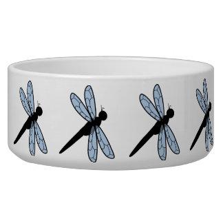Cute Vector Dragonfly Pet Water Bowl