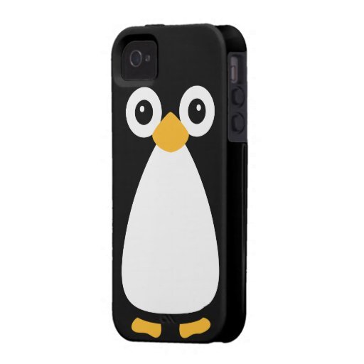 Cute Vector Penguin iPhone 4/4S Cover