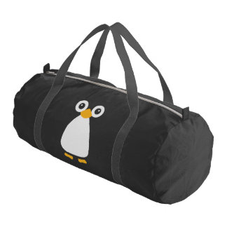 Cute Vector Penguin Duffle Bag