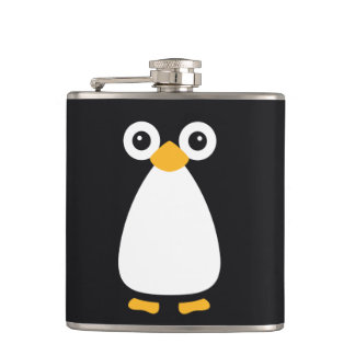 Cute Vector Penguin Flask