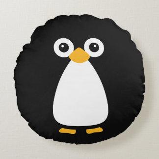 Cute Vector Penguin Round Pillow