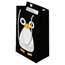 Cute Vector Penguin Small Gift Bag