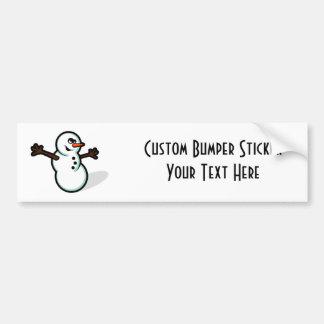 Cute Vector Snowman - Color Bumper Sticker