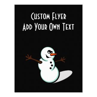 Cute Vector Snowman - Color Personalized Flyer
