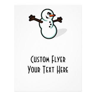 Cute Vector Snowman - Color Flyers