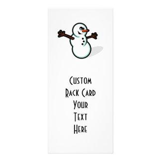 Cute Vector Snowman - Color Rack Card