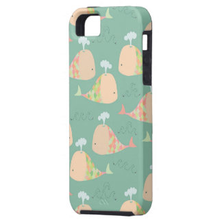 Cute Vector Whales Iphone 5 Case Mate Cover