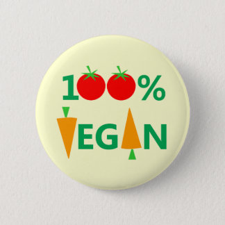 Cute Vegan Badge or Button
