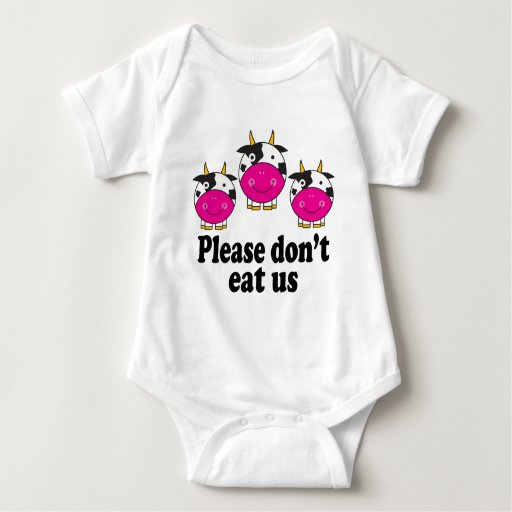 Cute Vegan Cows Baby Tee Shirt
