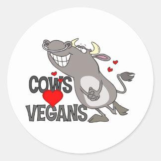 Cute Vegan Gift Classic Round Sticker