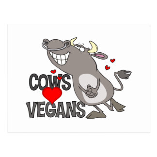 Cute Vegan Gift Postcard