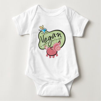 Cute Vegan Message Baby Bodysuit