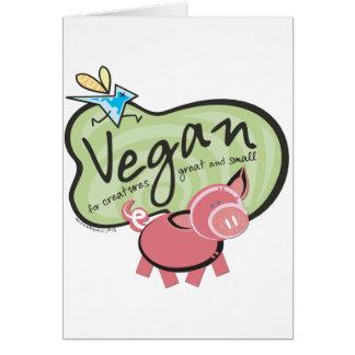 Cute Vegan Message Card