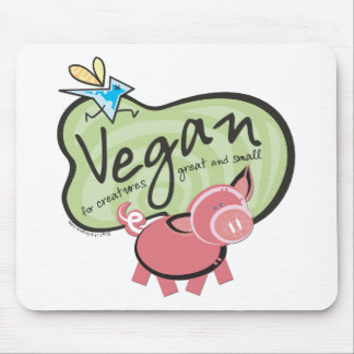 Cute Vegan Message Mouse Pad