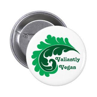 Cute vegan message pinback button