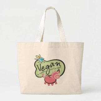 Cute Vegan Message Tote Bag