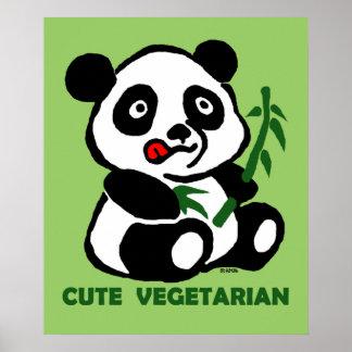 cute vegetarian poster