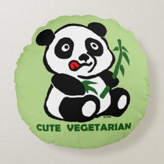 cute vegetarian round pillow