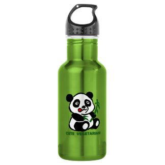 cute vegetarian stainless steel water bottle