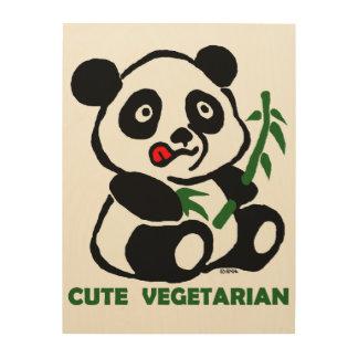cute vegetarian wood wall decor