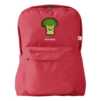 cute veggie broccoli cartoon backpack