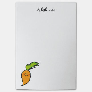 cute veggie carrot post-it notes