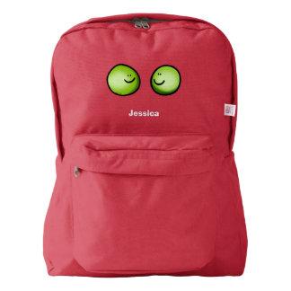 cute veggie peas friends backpack