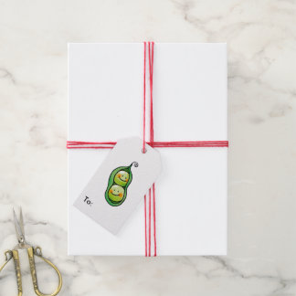 cute veggie two peas in a pod gift tags