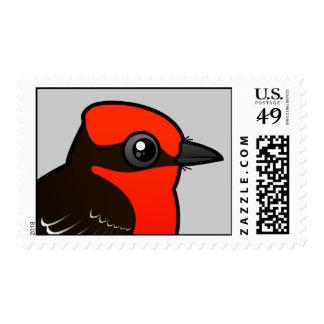 Cute Vermilion Flycatcher Postage