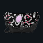"Cute Veterinarian / Veterinary Technician Love Courier Bag<br><div class=""desc"">Cute Veterinarian / Veterinary Technician Love</div>"