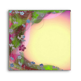 Cute Vibrant floral creepers envelopes