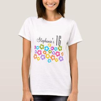 Cute vibrant flowers Sweet Sixteen Tshirt