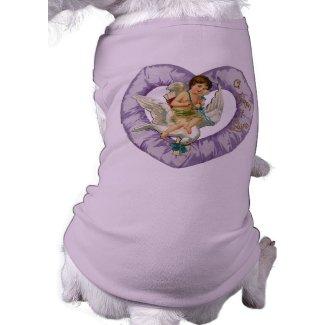 Cute Victorian Valentine dog shirt petshirt