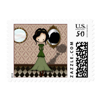 Cute Victoriana Steampunk Girl Custom Postage
